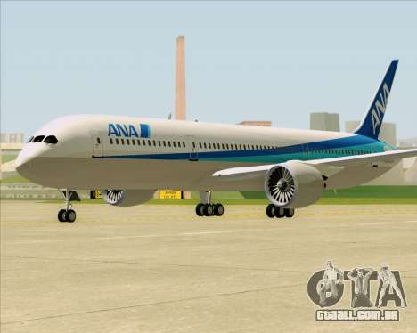 Boeing 787-9 All Nippon Airways para GTA San Andreas esquerda vista