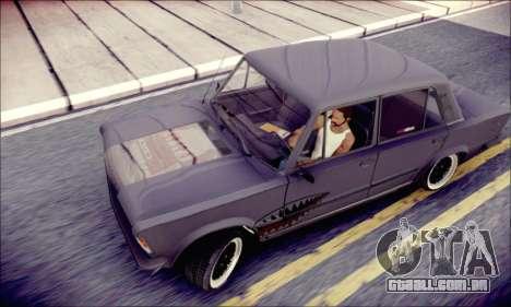 Fiat 125P Shark para GTA San Andreas vista traseira