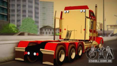 Kenworth T800 Road Train 8X6 para GTA San Andreas esquerda vista