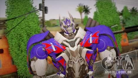 Optimus Prime para GTA San Andreas terceira tela