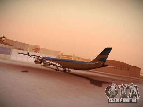 Airbus A340-300 Aerolineas Argentinas para GTA San Andreas vista traseira
