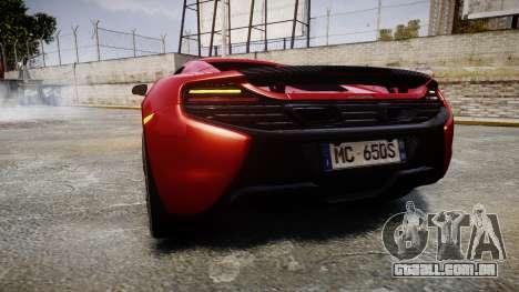 McLaren 650S Spider 2014 [EPM] Michelin v2 para GTA 4 traseira esquerda vista