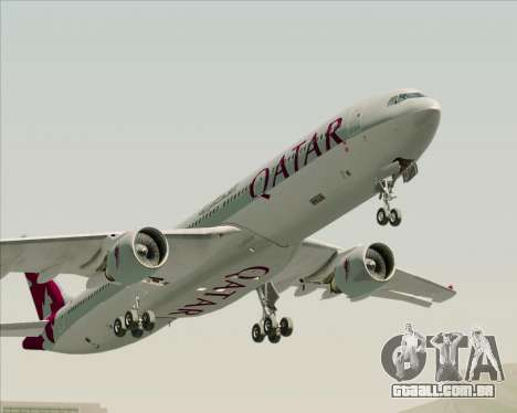 Airbus A330-300 Qatar Airways para vista lateral GTA San Andreas