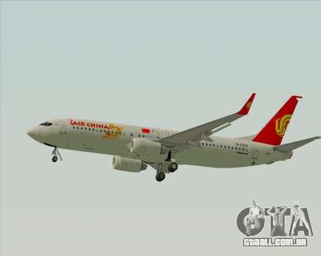 Boeing 737-89L Air China para GTA San Andreas traseira esquerda vista