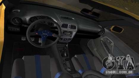 Subaru Impreza WRX 2002 Type 5 para GTA Vice City vista lateral