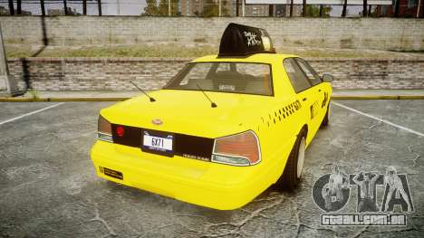 GTA V Vapid Taxi LCC para GTA 4 traseira esquerda vista