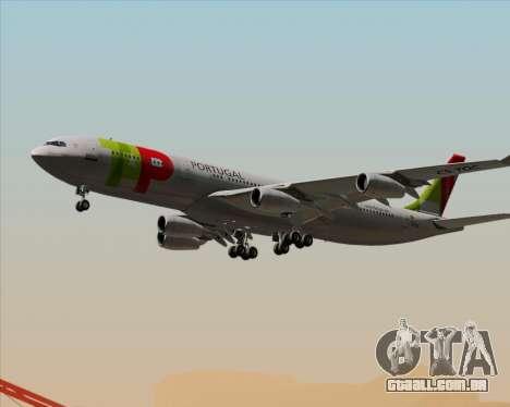 Airbus A340-312 TAP Portugal para GTA San Andreas vista inferior