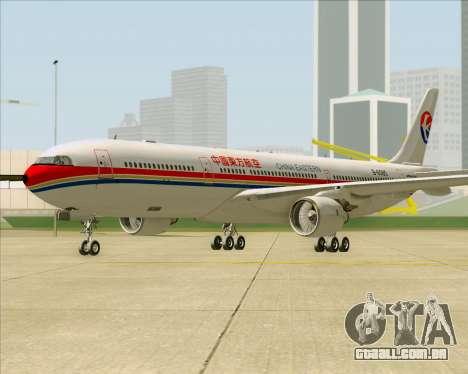 Airbus A330-300 China Eastern Airlines para GTA San Andreas esquerda vista