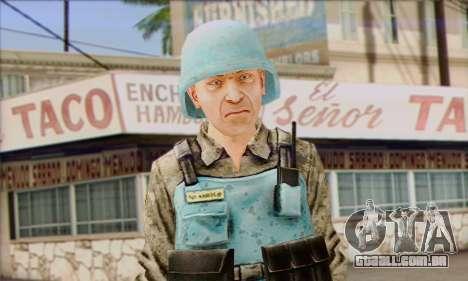 Uma força de paz da ONU (Postal 3) para GTA San Andreas terceira tela