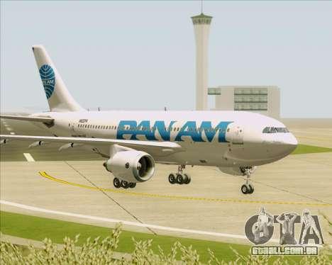 Airbus A310-324 Pan American World Airways para GTA San Andreas vista superior