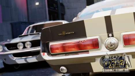 Shelby Cobra GT500 1967 para GTA 4 vista interior