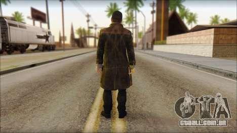 Aiden Pearce from Watch Dogs para GTA San Andreas segunda tela