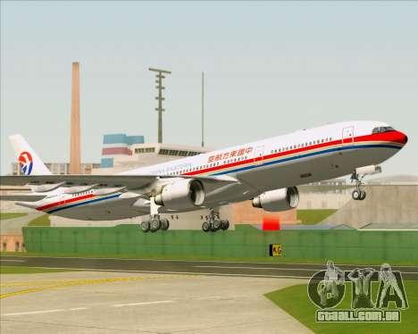 Airbus A330-300 China Eastern Airlines para GTA San Andreas vista inferior