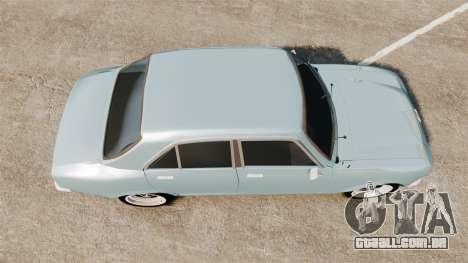 Peugeot 504 para GTA 4 vista direita