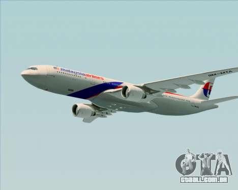 Airbus A330-323 Malaysia Airlines para GTA San Andreas vista inferior