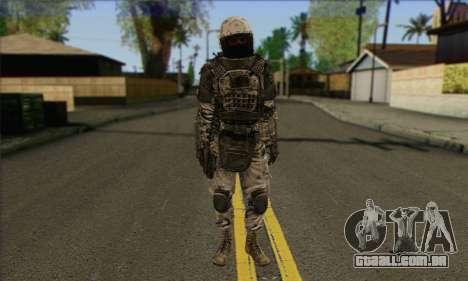 Task Force 141 (CoD: MW 2) Skin 3 para GTA San Andreas