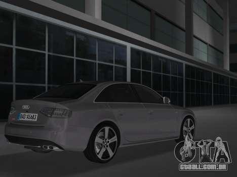 Audi S4 (B8) 2010 - Metallischen para GTA Vice City vista traseira esquerda