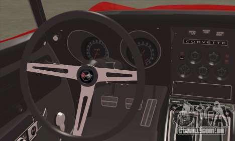 Chevrolet Corvette ZR1 1970 para GTA San Andreas traseira esquerda vista