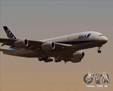 Airbus A380-800 All Nippon Airways (ANA) para GTA San Andreas vista direita