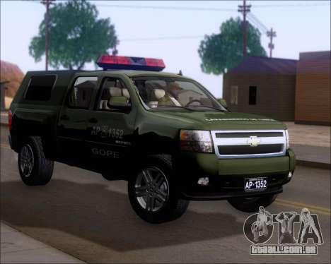 Chevrolet Silverado Gope para GTA San Andreas