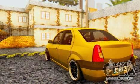 Dacia Logan MOR para GTA San Andreas vista traseira