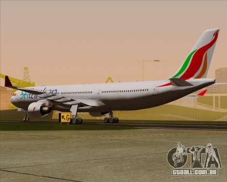Airbus A330-300 SriLankan Airlines para GTA San Andreas vista direita