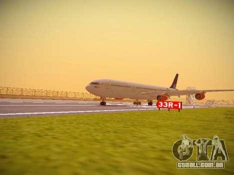 Airbus A340-300 Scandinavian Airlines para GTA San Andreas esquerda vista