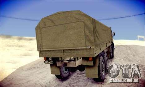 A KamAZ-6350 (APT) para GTA San Andreas vista traseira