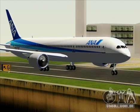 Boeing 787-9 All Nippon Airways para GTA San Andreas traseira esquerda vista