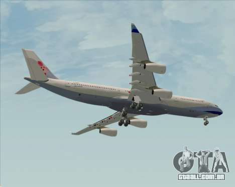 Airbus A340-313 China Airlines para GTA San Andreas vista interior