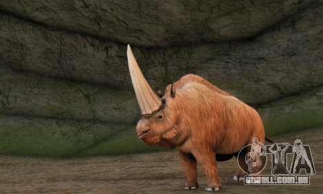 Elasmotherium (Extinct Mammal) para GTA San Andreas terceira tela