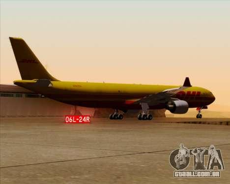 Airbus A330-300P2F DHL para GTA San Andreas vista inferior