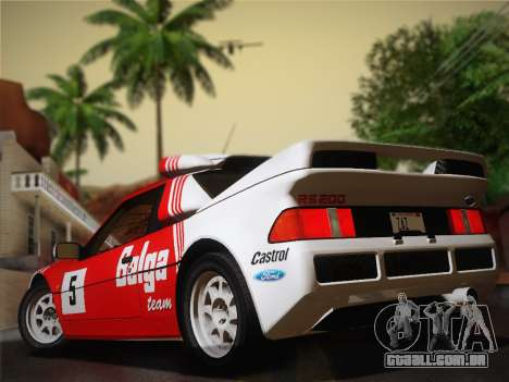 Ford RS200 Evolution 1985 para GTA San Andreas vista direita