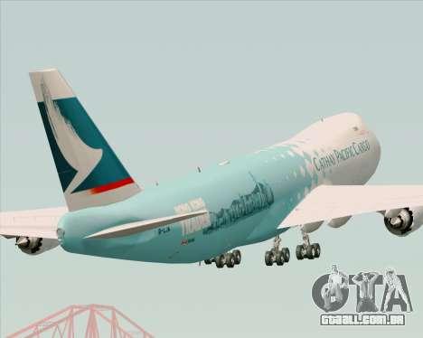 Boeing 747-8 Cargo Cathay Pacific Cargo para vista lateral GTA San Andreas
