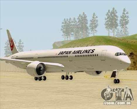 Airbus A350-941 Japan Airlines para GTA San Andreas esquerda vista