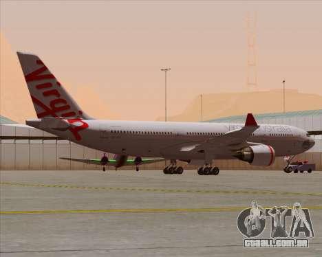 Airbus A330-200 Virgin Australia para as rodas de GTA San Andreas