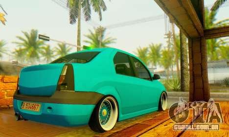 Dacia Logan Elegant para GTA San Andreas traseira esquerda vista