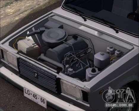 LADA 2107 para GTA San Andreas vista interior
