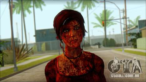 Tomb Raider Skin 9 2013 para GTA San Andreas terceira tela