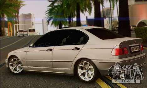 BMW 320i para GTA San Andreas esquerda vista