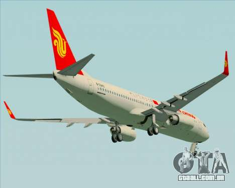 Boeing 737-89L Air China para GTA San Andreas vista interior