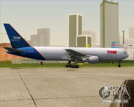 Boeing 767-300ER F TAM Cargo para GTA San Andreas vista superior