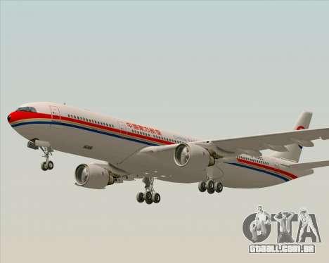 Airbus A330-300 China Eastern Airlines para GTA San Andreas vista superior