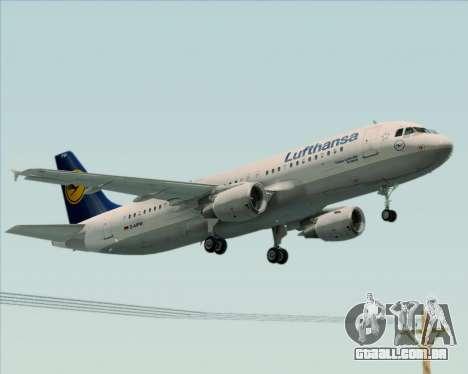Airbus A320-211 Lufthansa para GTA San Andreas vista traseira