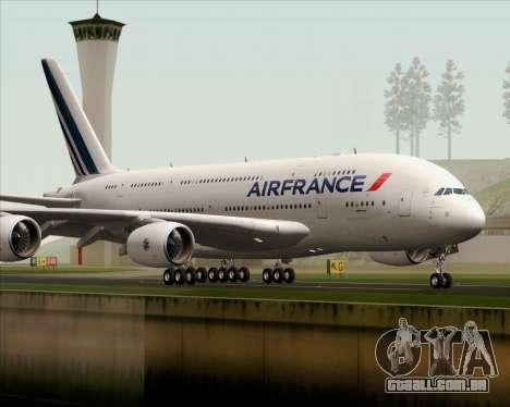 Airbus A380-861 Air France para GTA San Andreas vista direita