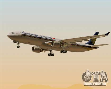 Airbus A330-300 Singapore Airlines para as rodas de GTA San Andreas