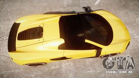 McLaren 650S Spider 2014 [EPM] Michelin v4 para GTA 4 vista direita