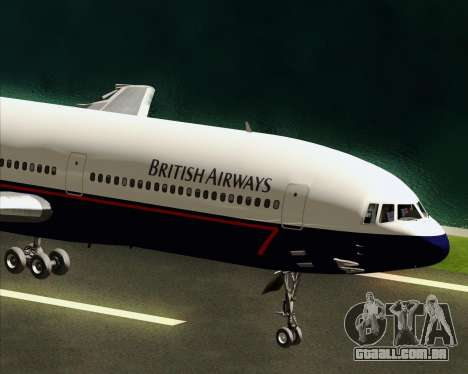 Lockheed L-1011 TriStar British Airways para GTA San Andreas vista interior