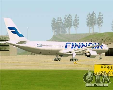 Airbus A330-300 Finnair (Current Livery) para GTA San Andreas vista direita