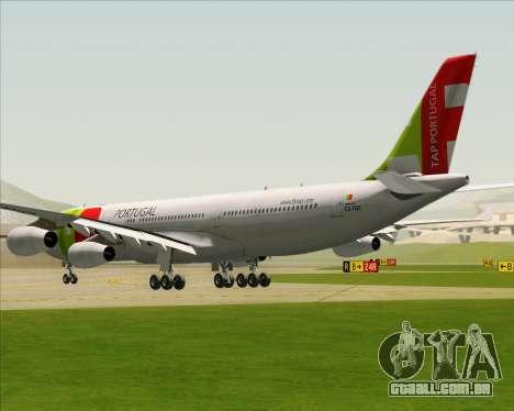 Airbus A340-312 TAP Portugal para GTA San Andreas traseira esquerda vista